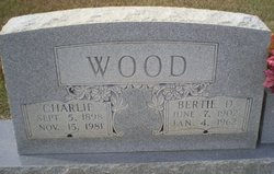Bertie Belle <I>Dailey</I> Wood
