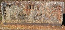 Martha Jane <I>Clement</I> Lee