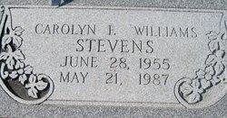 Carolyn F <I>Williams</I> Steven