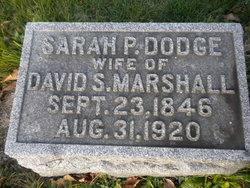 Sarah P <I>Dodge</I> Marshall