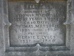 "Hennie Eleanor ""Henrietta"" <I>Lyles</I> Marshall"