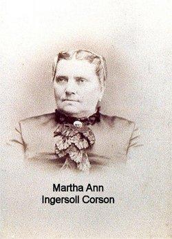 Martha Ann <I>Ingersoll</I> Corson