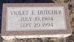 Violet E <I>Welsh</I> Dutcher