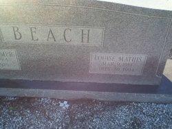 Louise <I>Mathis</I> Beach