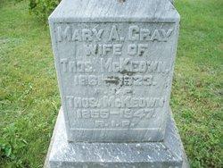 Mary A <I>Gray</I> McKeown