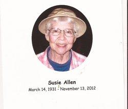 "Wanda Sue ""Sussie"" <I>Smith</I> Allen"