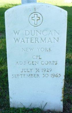 W Duncan Waterman