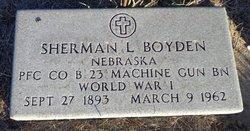 Sherman L Boyden
