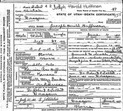 "Joseph Harold ""Little Joe"" Huffman"