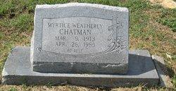 Myrtice <I>Weatherly</I> Chatman