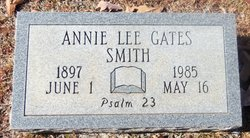 Annie Lee <I>Gates</I> Smith