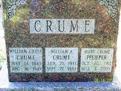 Mary M  Crume <I>Chase</I> Pfeiffer