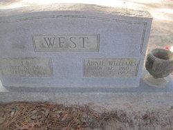 Annie <I>Williams</I> West