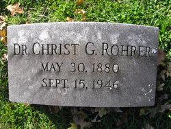 """Dr Christian Greider """"Christ"""" Rohrer"""
