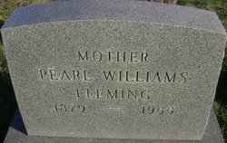 Pearl <I>Williams</I> Fleming