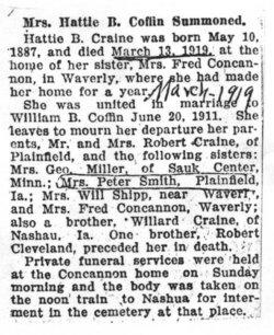 Hattie B <I>Craine</I> Coffin