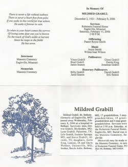 Mildred Maxine <I>Arkle</I> Grabill