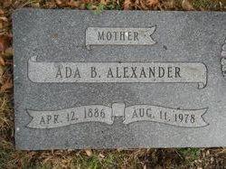 Ada Bell <I>Seaton</I> Alexander
