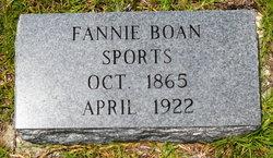 "Frances A ""Fannie"" <I>Boan</I> Sports"