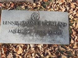 Lennie Elizabeth <I>Hamner</I> Moreland