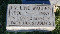 Pauline C Walden