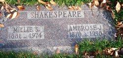 "Amelia ""Millie"" <I>Schofield</I> Shakespeare"