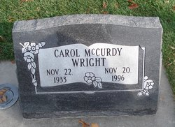 Carol Rae <I>McCurdy</I> Wright