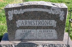 Alberta May <I>Farrar</I> Armstrong