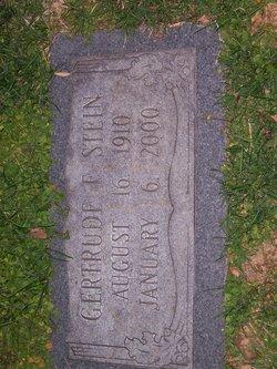 Gertrude Frances <I>Emendorf</I> Stein