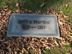 Mary E Proctor