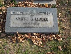 Myrtie <I>Green</I> LeDuke