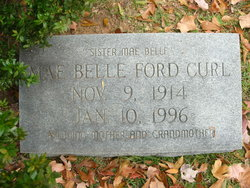 Norma Mae Belle <I>Ford</I> Curl