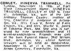 Minerva <I>Trammell</I> Cowley