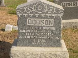 Ella W <I>Jenness</I> Dodson