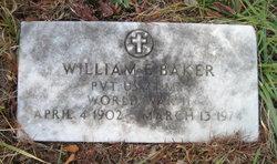 Pvt William E. Baker