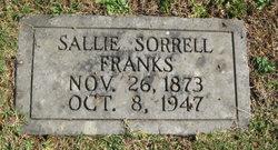 Sallie <I>Sorrell</I> Franks