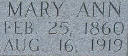 Mary Ann <I>Anderson</I> Tynes