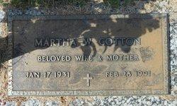 Martha Sue <I>Williams</I> Cotton