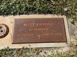 Betty J Sebring