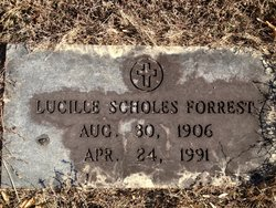 Annie Lucille <I>Scholes</I> Forrest