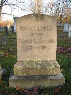 Harriet <I>Kimball</I> Garland