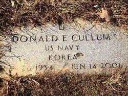 Donald E Cullum
