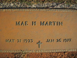 Mae <I>Harris</I> Martin