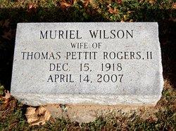 Muriel <I>Wilson</I> Rogers