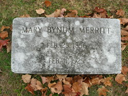 Mary <I>Bynum</I> Merritt