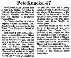 "Darrell Fredick ""Pete"" Knacke"