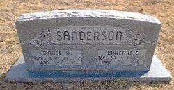 Maude D <I>Daniels</I> Sanderson