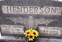 Bertha <I>Lofton</I> Henderson
