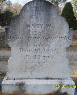 Mary W <I>Hinkley</I> Goodwin