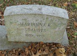 """Marianna Twining """"Anna"""" <I>Kirkbride</I> Shaudys"""